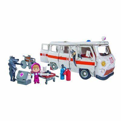 Masha and The Bear Masha ja Bear lelusettejä Ambulanssi Masha ja kaksi sutta
