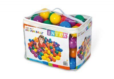 Intex Värikäs muovista palloa 100 kappaletta pallon kuoppa