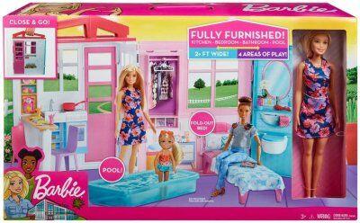 Barbie nukke talo nukke ja huonekalut