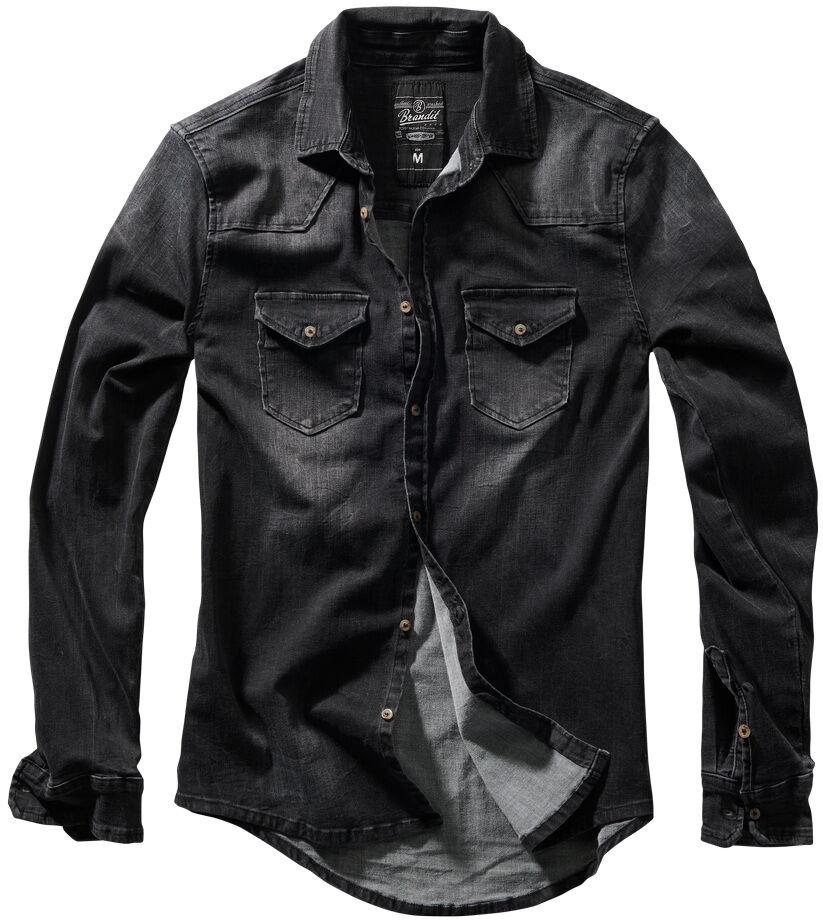 Brandit Riley Denim Paita  - Musta - Size: XL