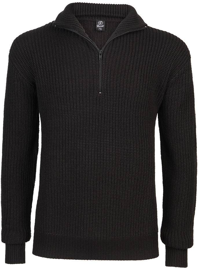 Brandit Marine Pullover Troyer  - Musta - Size: 3XL