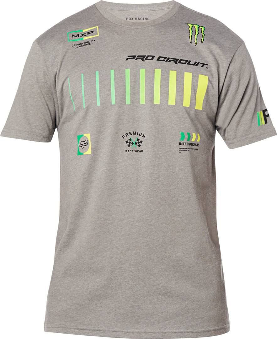 FOX Pro Circuit Premium T-paita  - Harmaa - Size: S