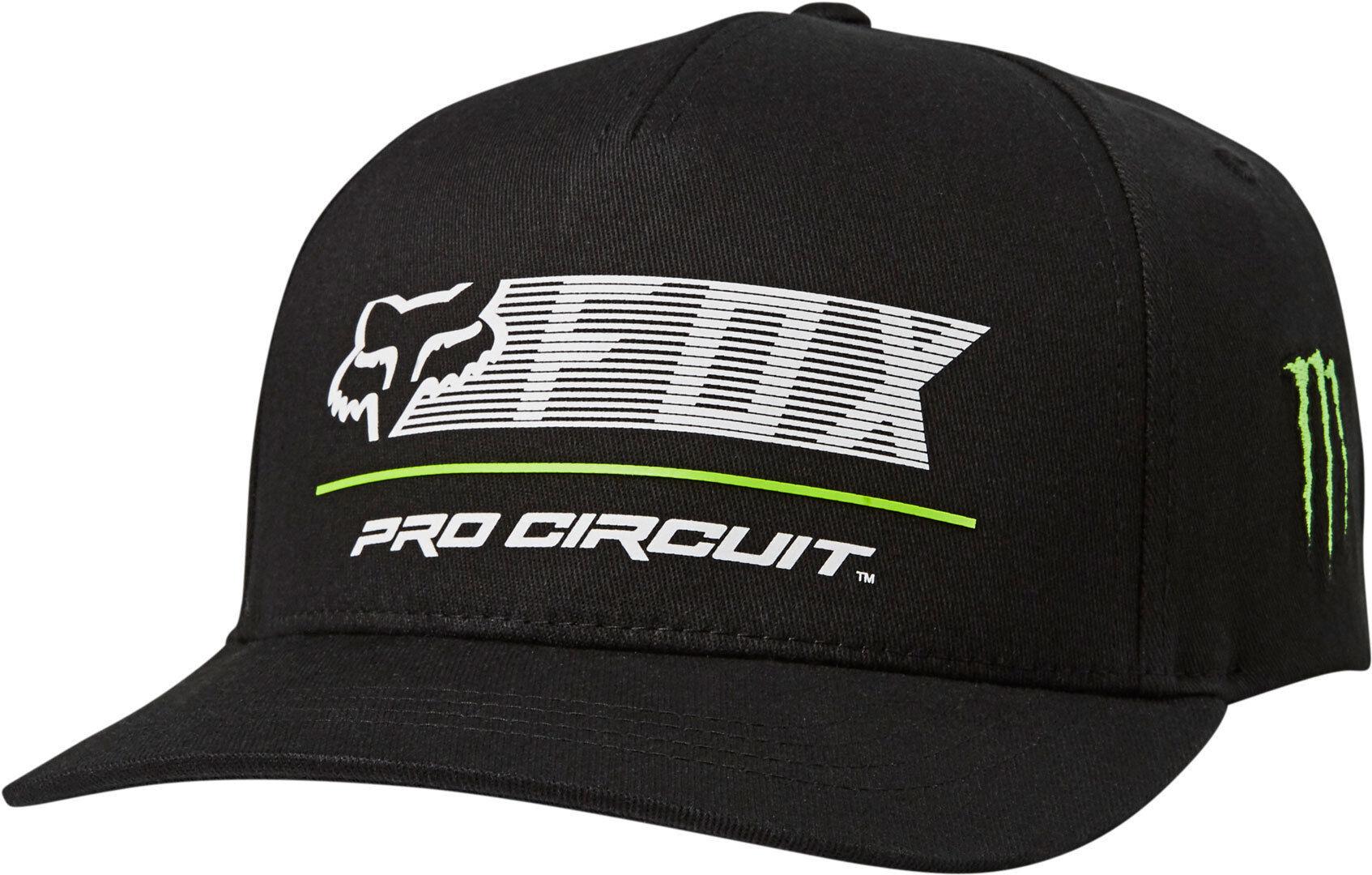 FOX Pro Circuit Flexfit Cap  - Musta - Size: S M