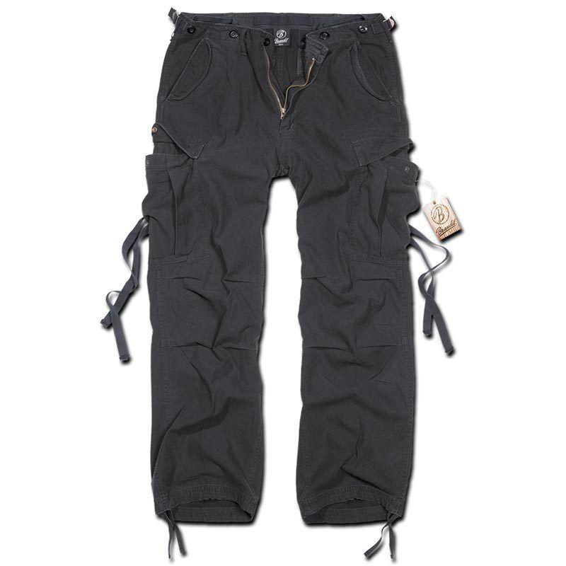 Brandit M-65 Vintage Housut  - Musta - Size: L