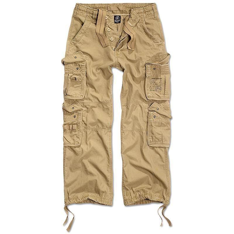 Brandit Pure Vintage Housut  - Beige - Size: S