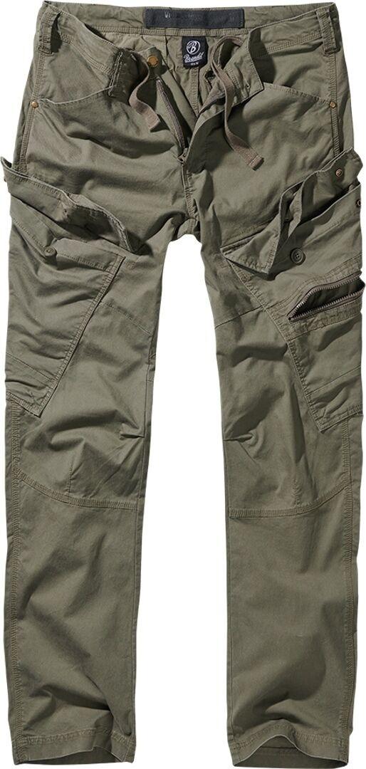 Brandit Adven Slim Fit Housut  - Vihreä - Size: XL