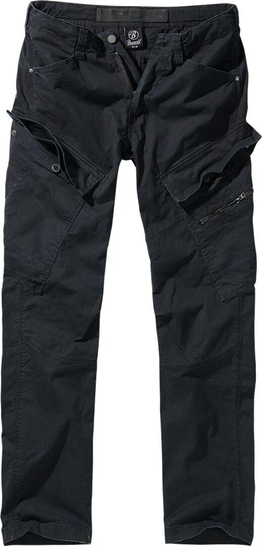 Brandit Adven Slim Fit Housut  - Musta - Size: 2XL