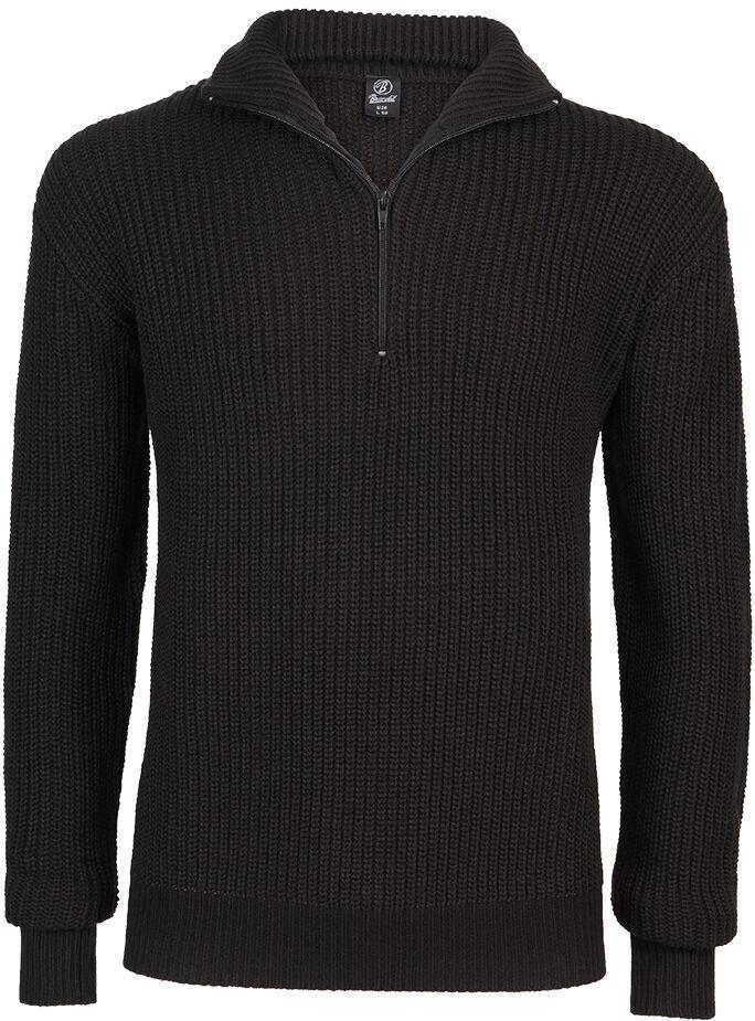 Brandit Marine Pullover Troyer  - Musta - Size: 2XL