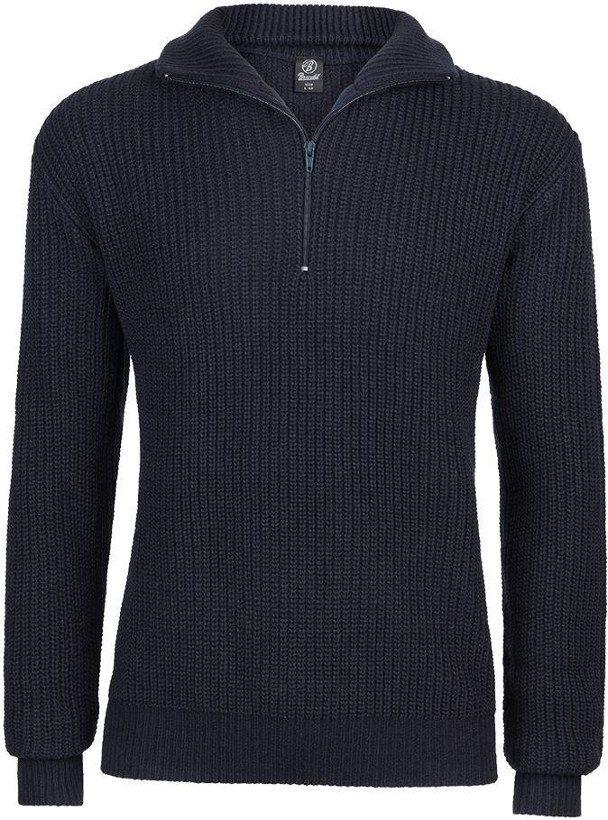 Brandit Marine Pullover Troyer  - Sininen - Size: 2XL