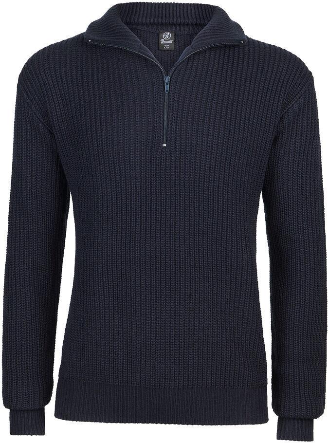 Brandit Marine Pullover Troyer  - Sininen - Size: 4XL