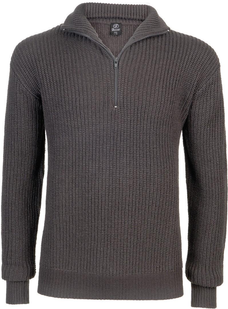 Brandit Marine Pullover Troyer  - Musta Harmaa - Size: S