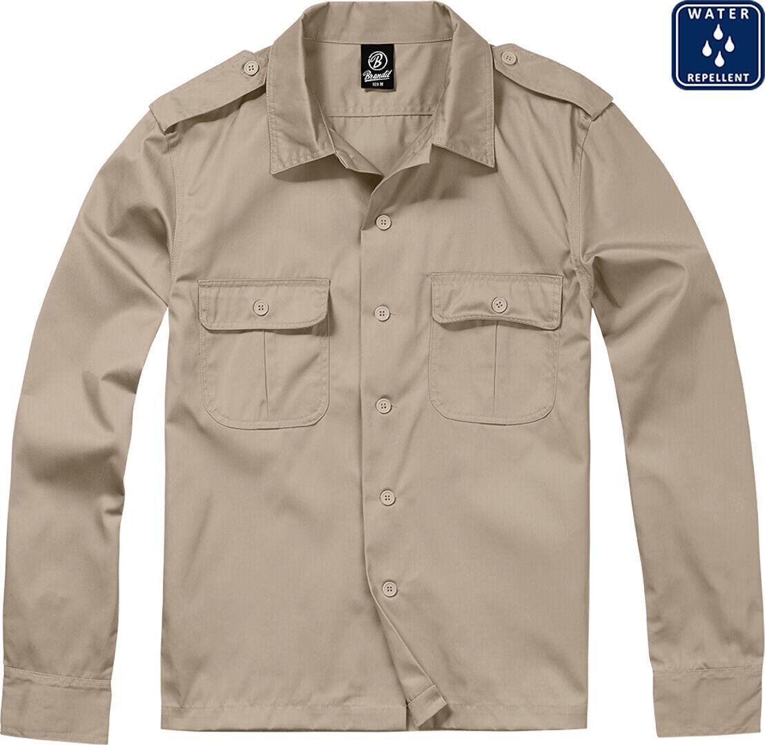 Brandit US pitkähihainen paita  - Beige - Size: 4XL