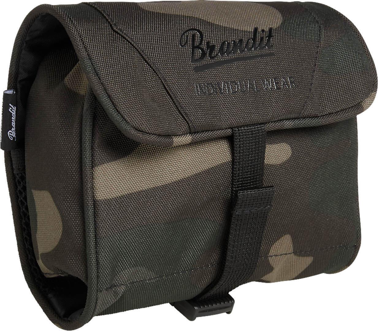 Brandit Medium Toiletti laukku  - Musta Harmaa - Size: yksi koko