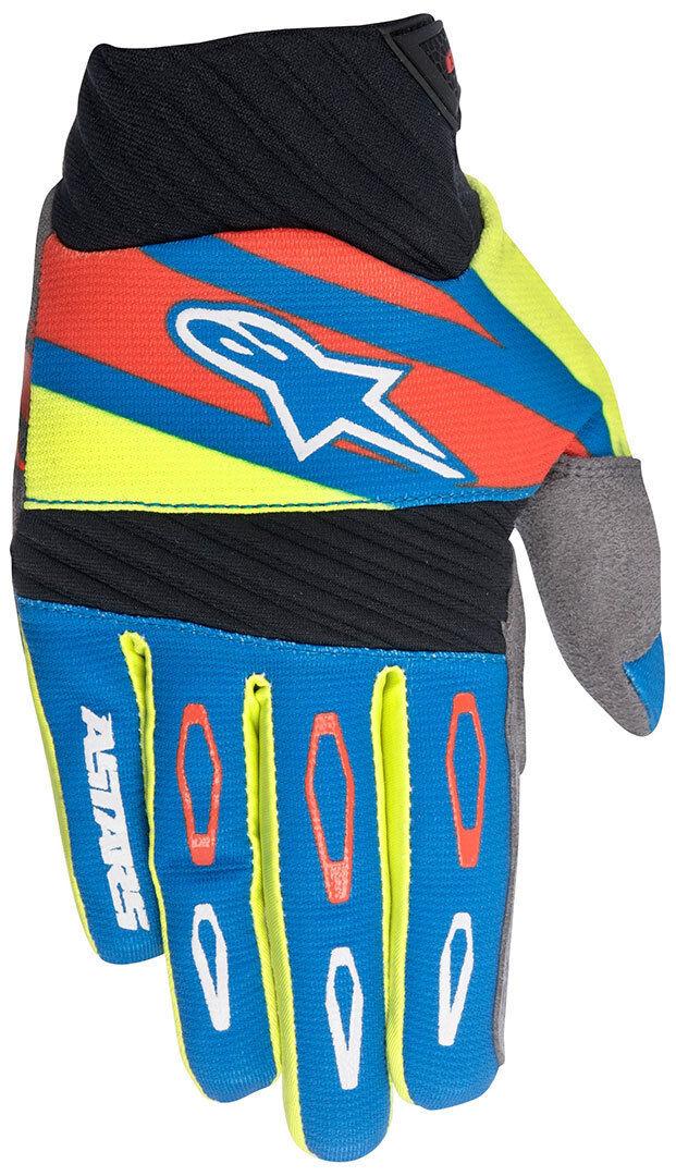 Alpinestars Techstar Factory Motocross käsineet  - Punainen Sininen Keltainen - Size: XL