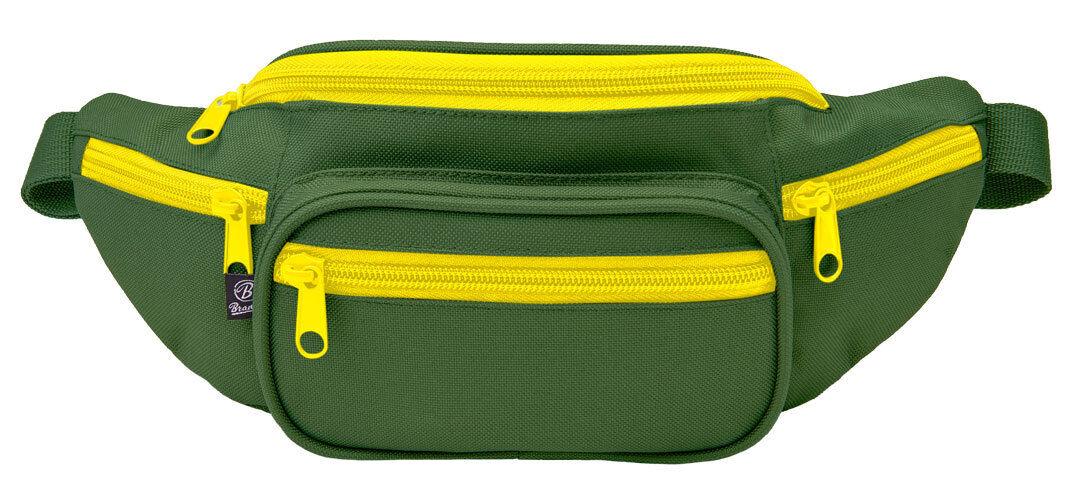 Brandit Vyötärö vyölaukku  - Vihreä Keltainen - Size: yksi koko