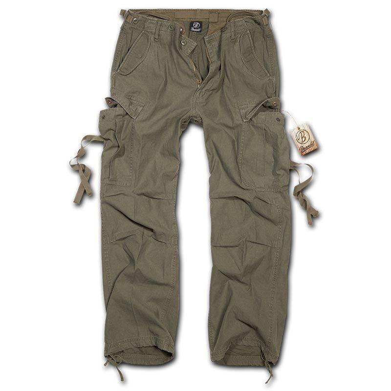 Brandit M-65 Vintage Housut  - Vihreä - Size: 3XL