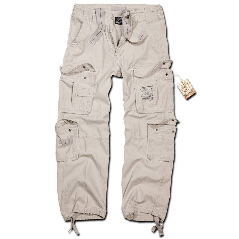 Brandit Pure Vintage Housut  - Valkoinen - Size: L