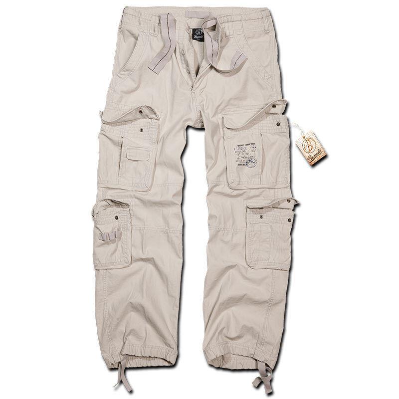 Brandit Pure Vintage Housut  - Valkoinen - Size: S