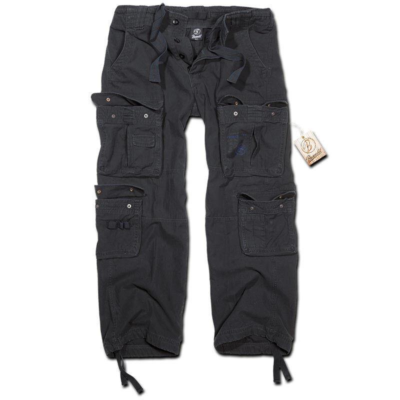 Brandit Pure Vintage Housut  - Musta - Size: 7XL