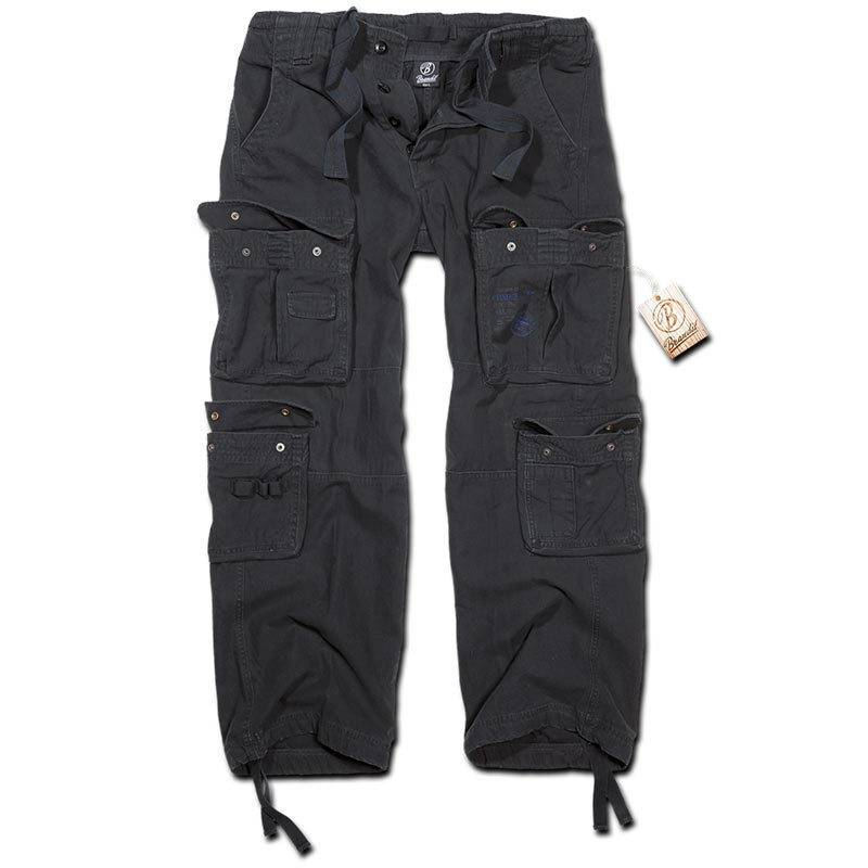 Brandit Pure Vintage Housut  - Musta - Size: 6XL