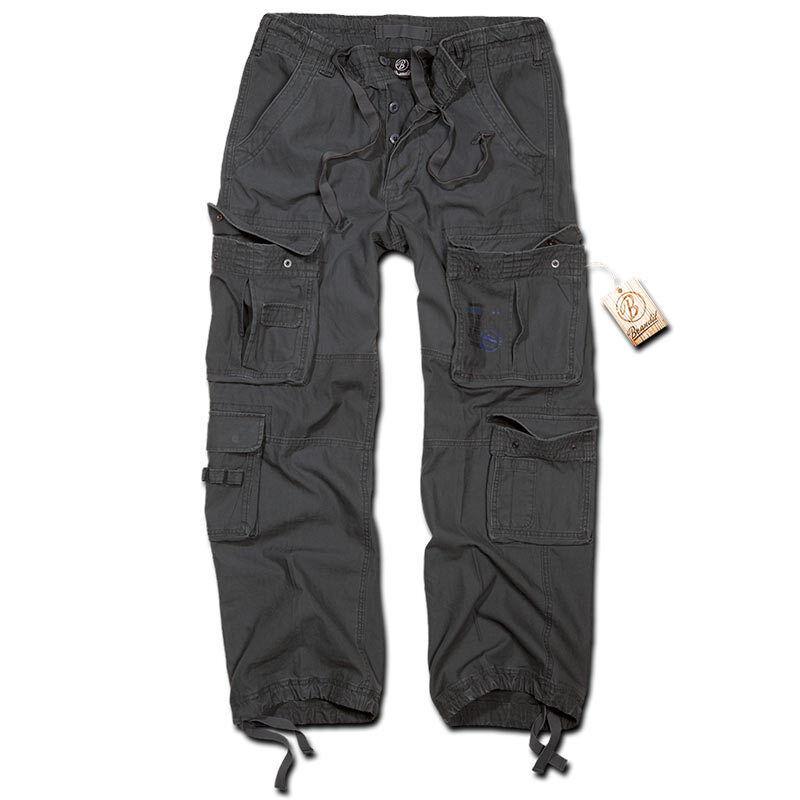 Brandit Pure Vintage Housut  - Musta Harmaa - Size: XL