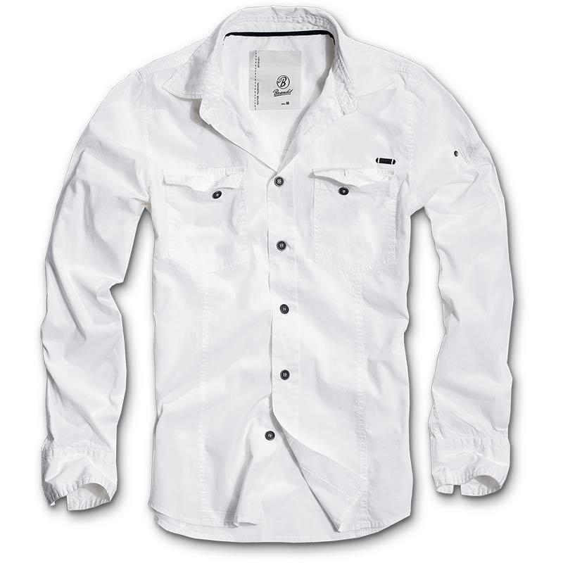 Brandit SlimFit Paita  - Valkoinen - Size: XL