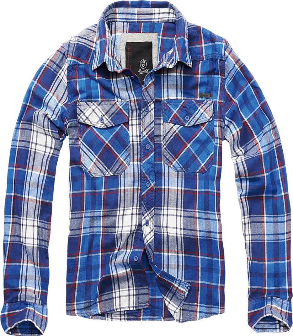 Brandit Check Paita  - Sininen - Size: M