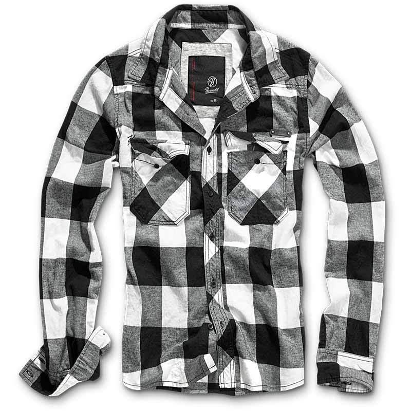 Brandit Check Paita  - Musta Valkoinen - Size: M