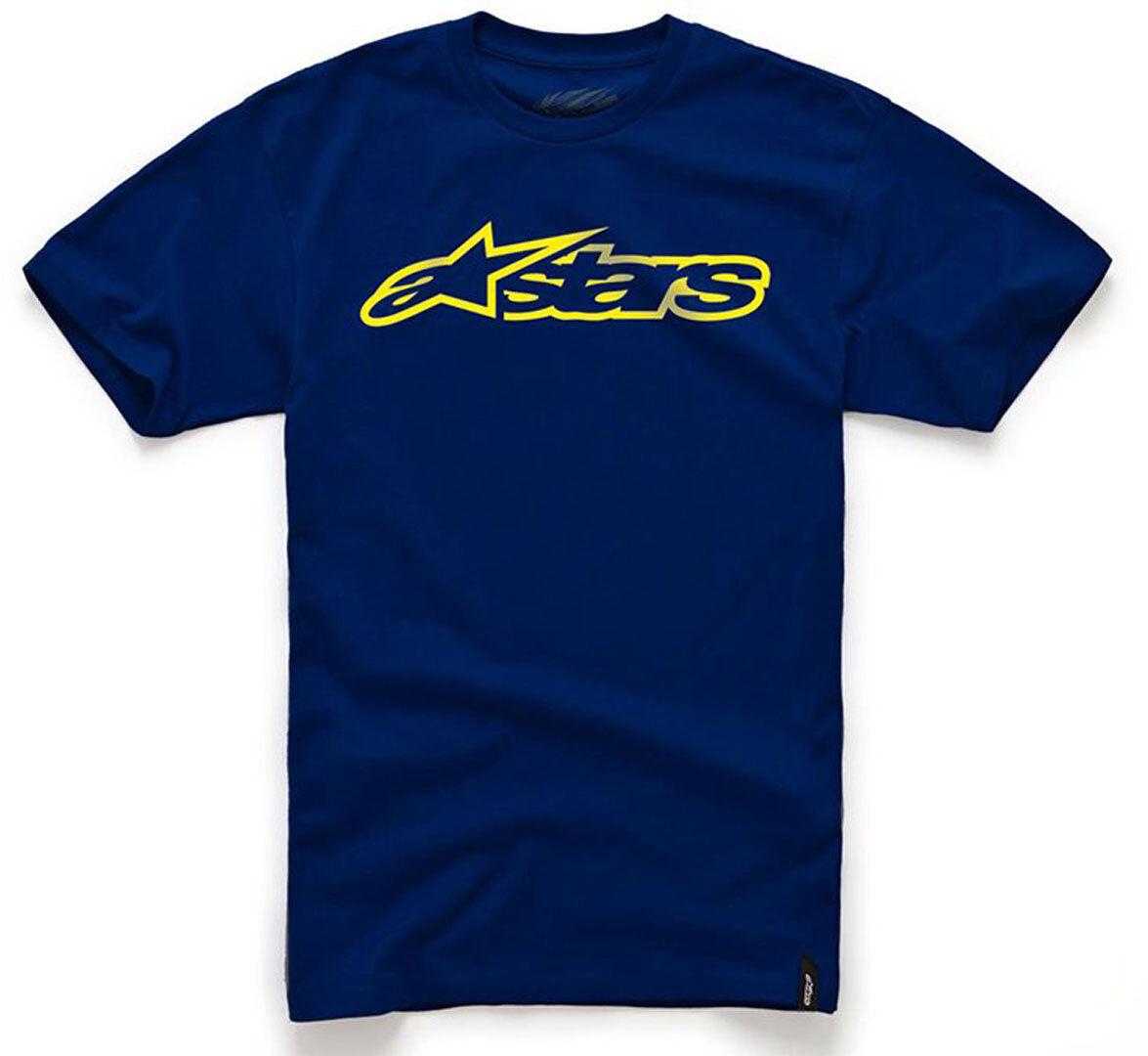 Alpinestars Blaze T-paita  - Sininen Keltainen - Size: M