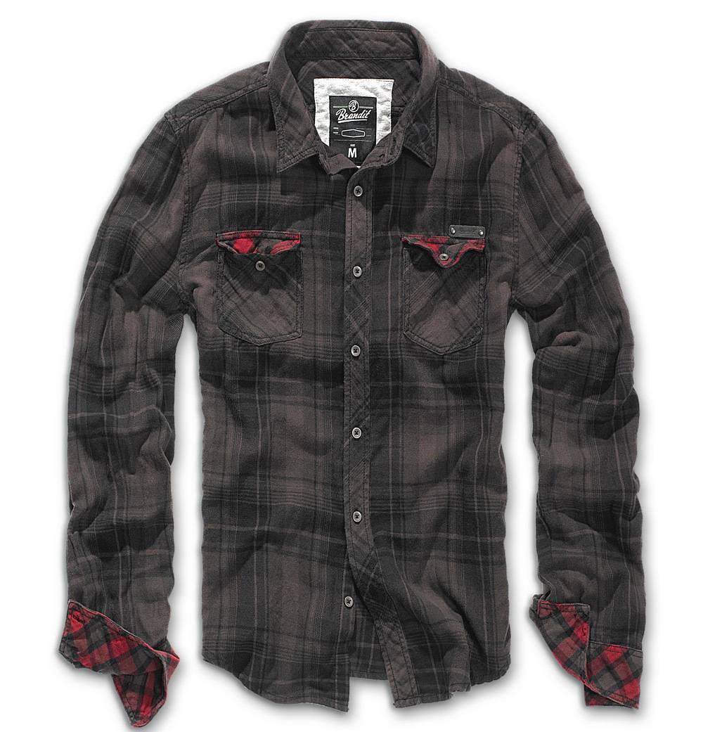 Brandit Check Duncan Paita  - Musta Ruskea - Size: 2XL