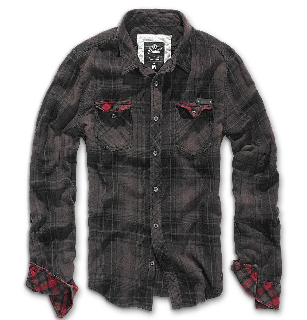 Brandit Check Duncan Paita  - Musta Ruskea - Size: XL