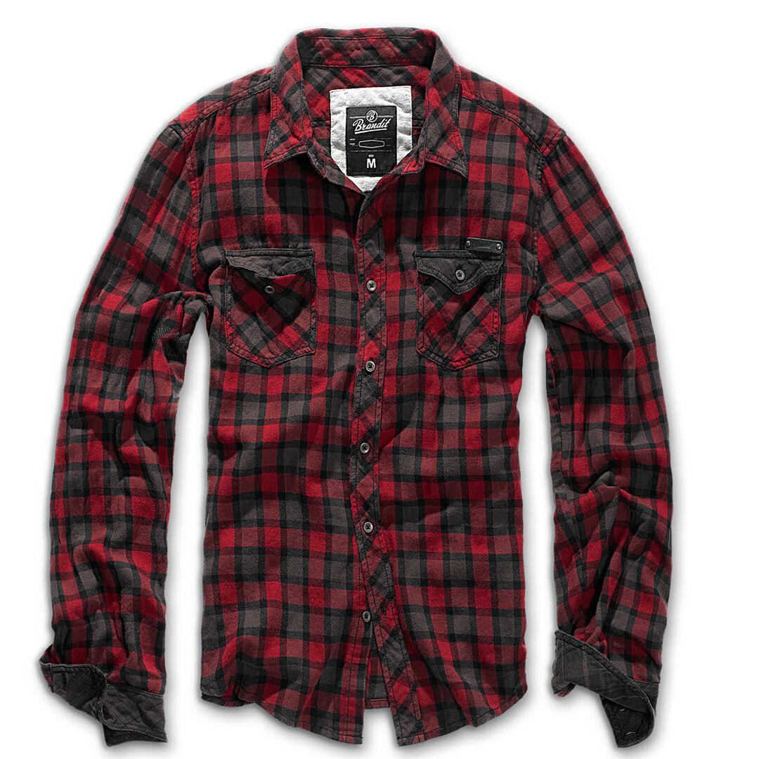 Brandit Check Duncan Paita  - Punainen Ruskea - Size: M