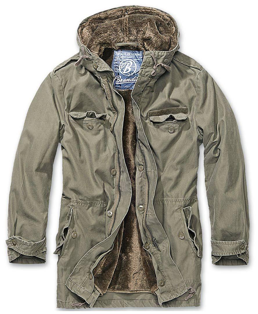 Brandit BW Parka takki  - Vihreä - Size: S