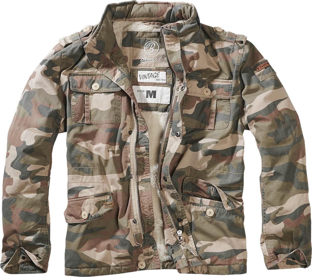 Brandit Britannia Winter Takki  - Vihreä - Size: XL