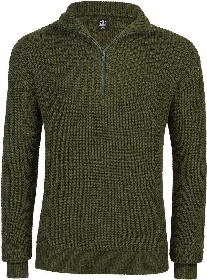 Brandit Marine Pullover Troyer  - Vihreä - Size: XL