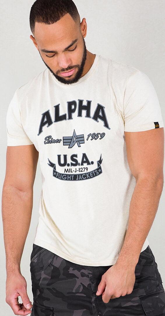 Alpha Industries Alpha FJ T-paita  - Beige - Size: M