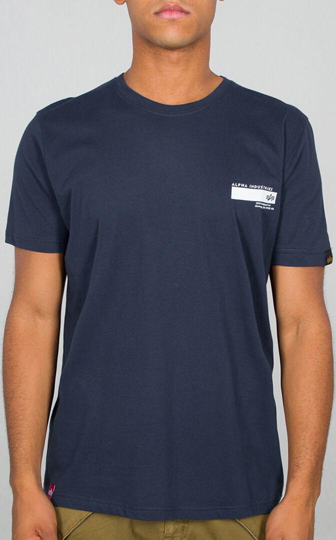 Alpha Industries Blount Ave T-paita  - Sininen - Size: XS
