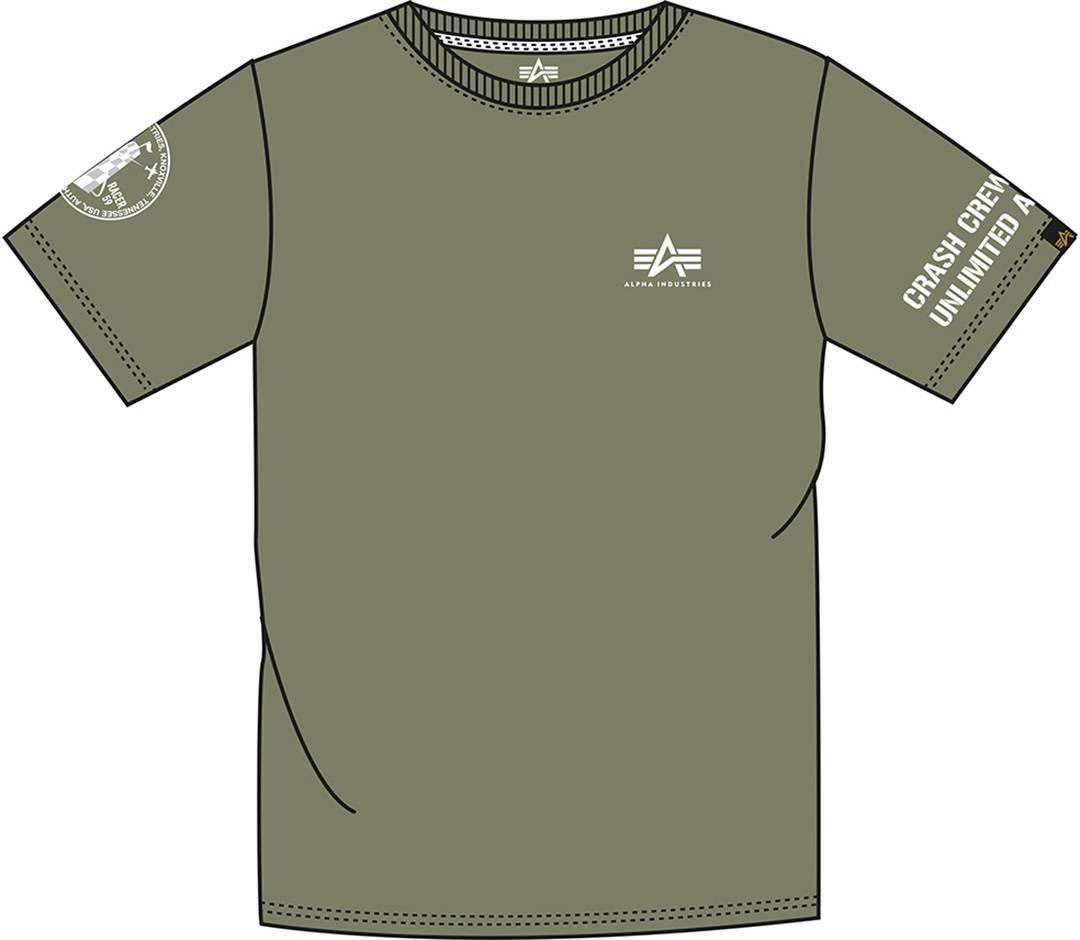 Alpha Industries Unlimited T-paita  - Vihreä - Size: S