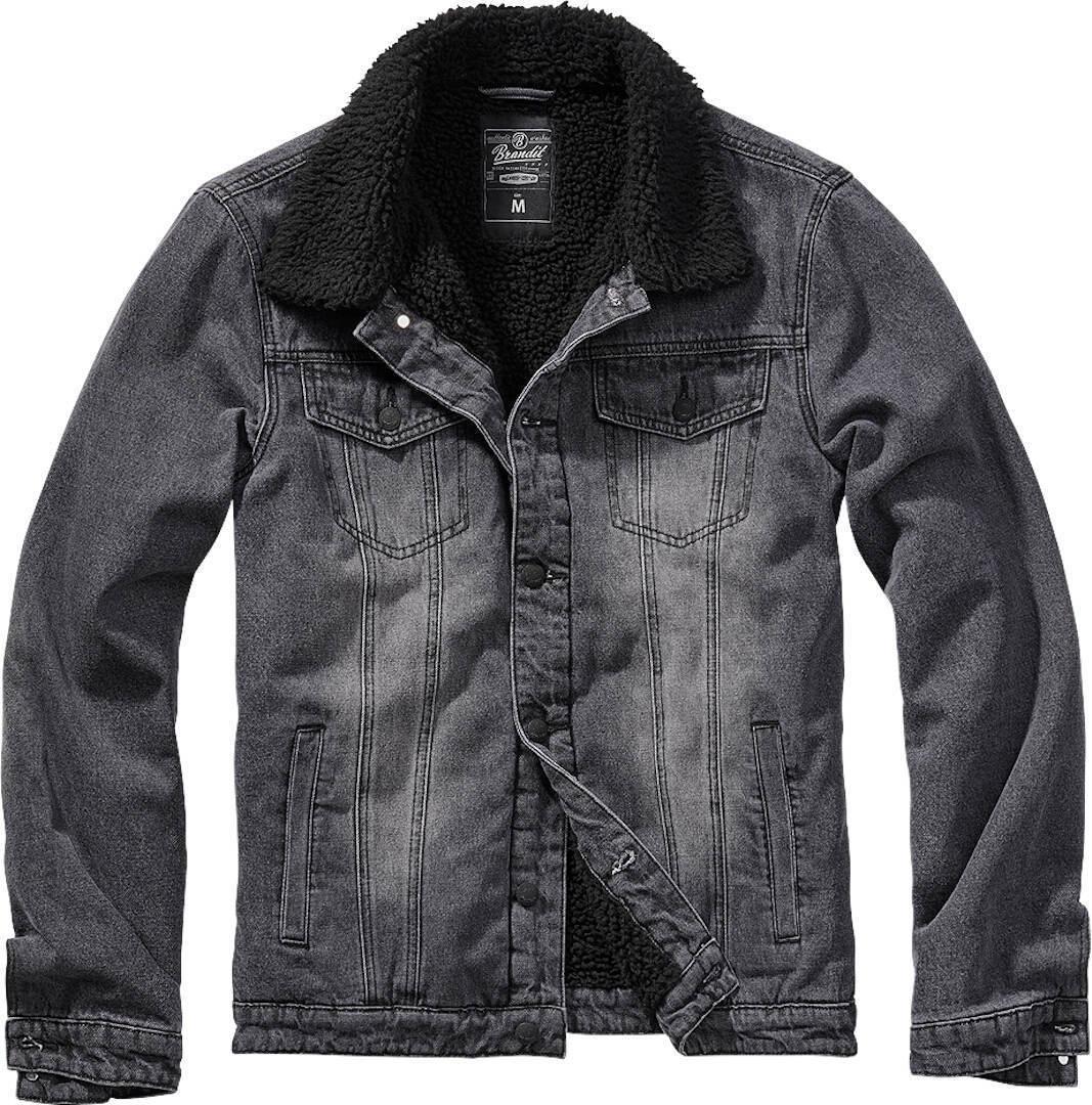 Brandit Sherpa Denim Takki  - Musta - Size: 2XL