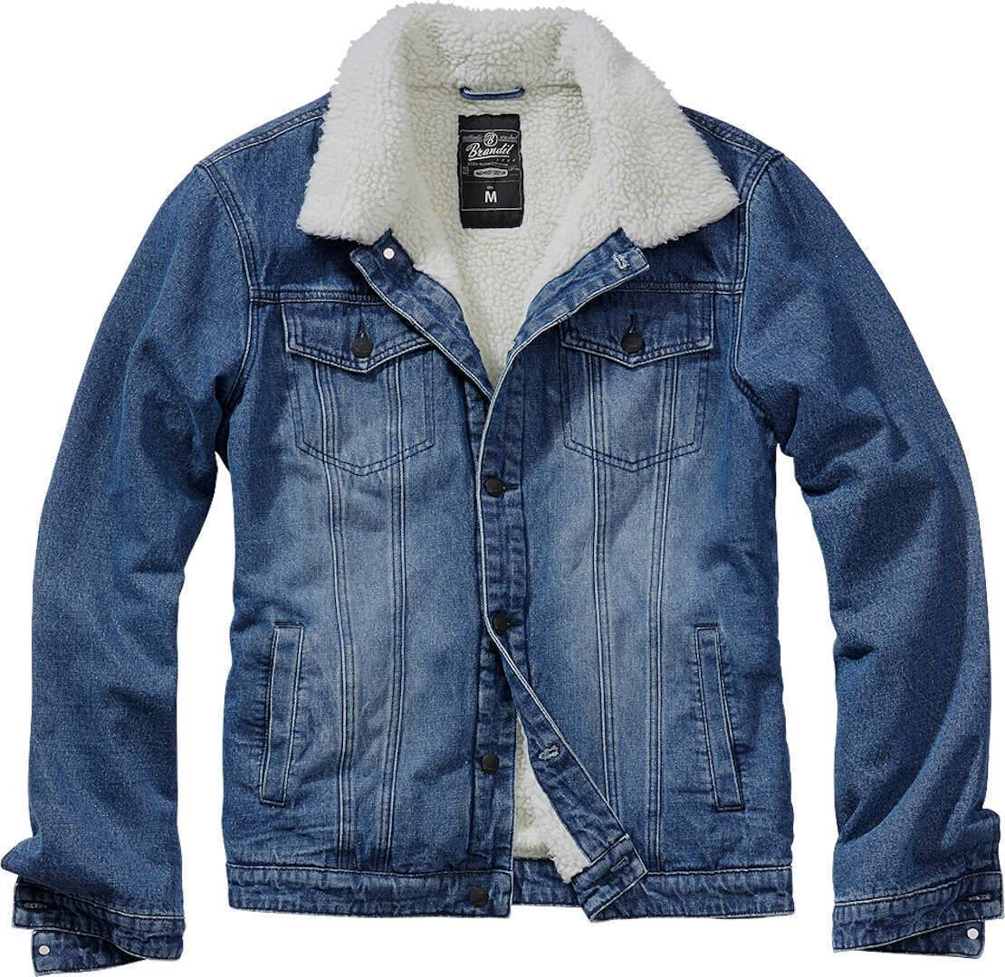 Brandit Sherpa Denim Takki  - Sininen - Size: XL