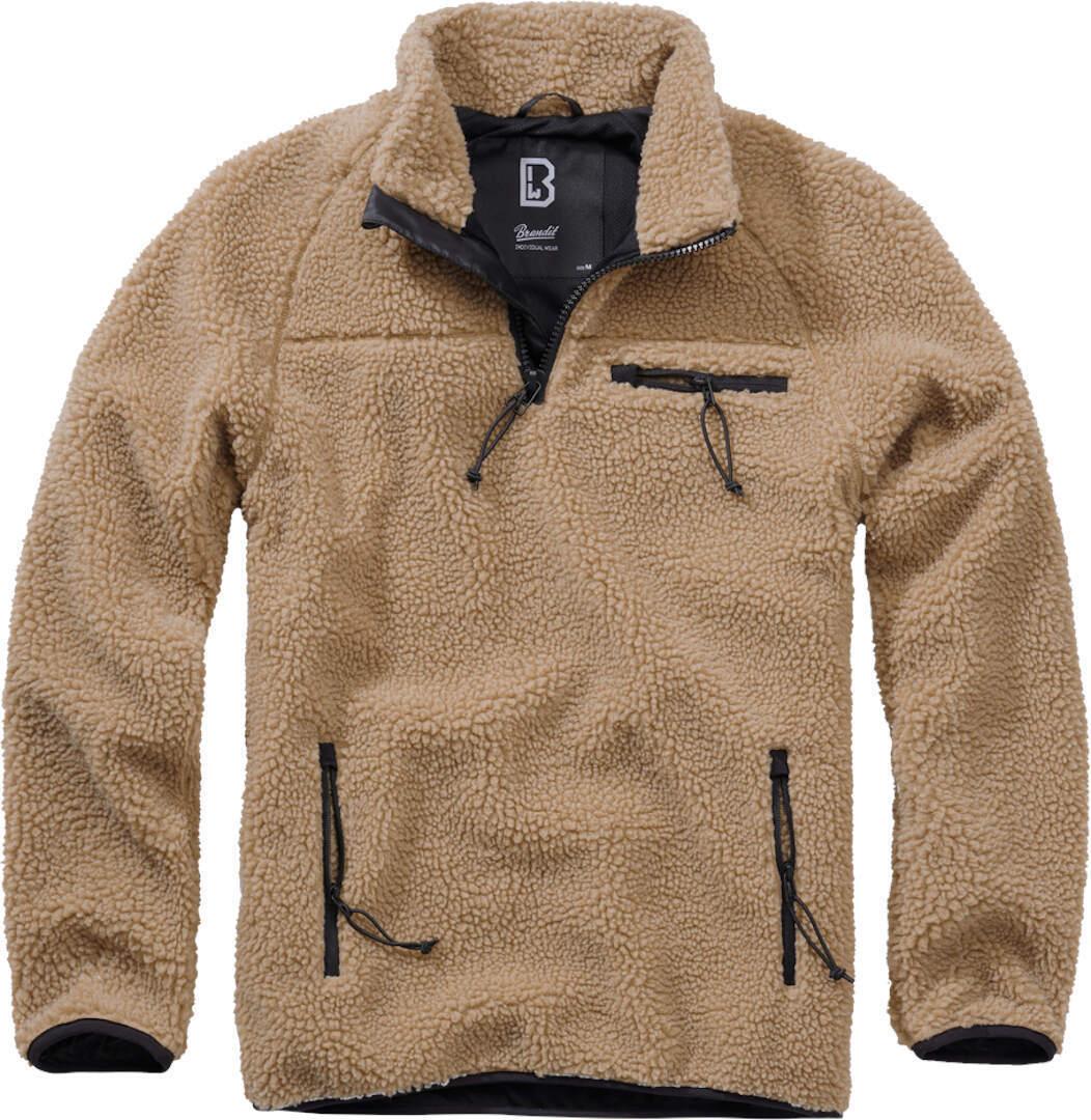 Brandit Teddyfleece Pullover  - Beige - Size: S