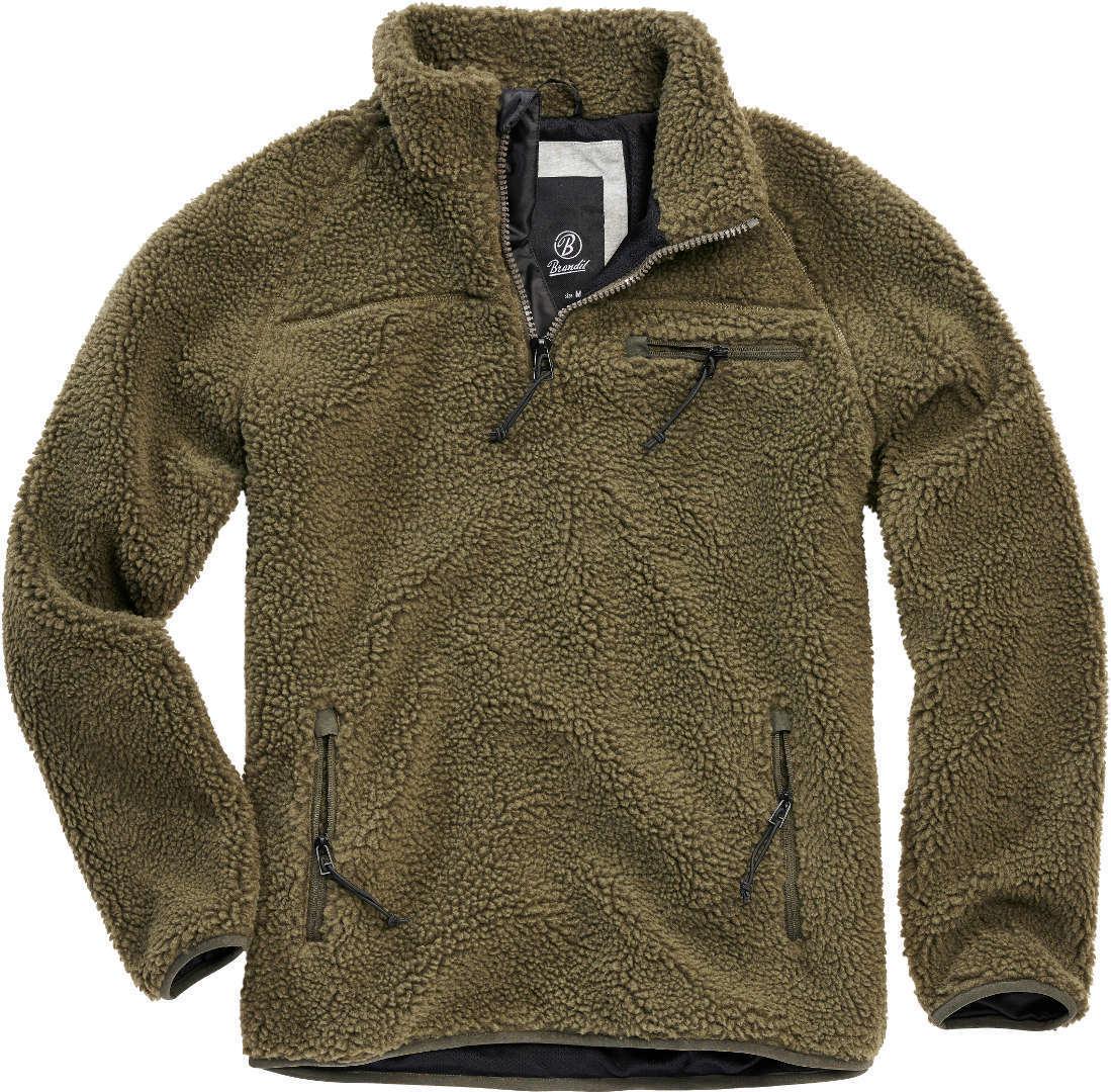 Brandit Teddyfleece Pullover  - Vihreä - Size: S
