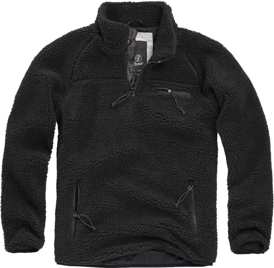 Brandit Teddyfleece Pullover  - Musta - Size: M