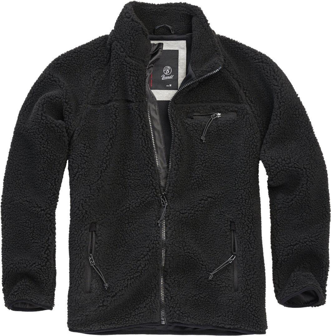 Brandit Teddyfleece Takki  - Musta - Size: L