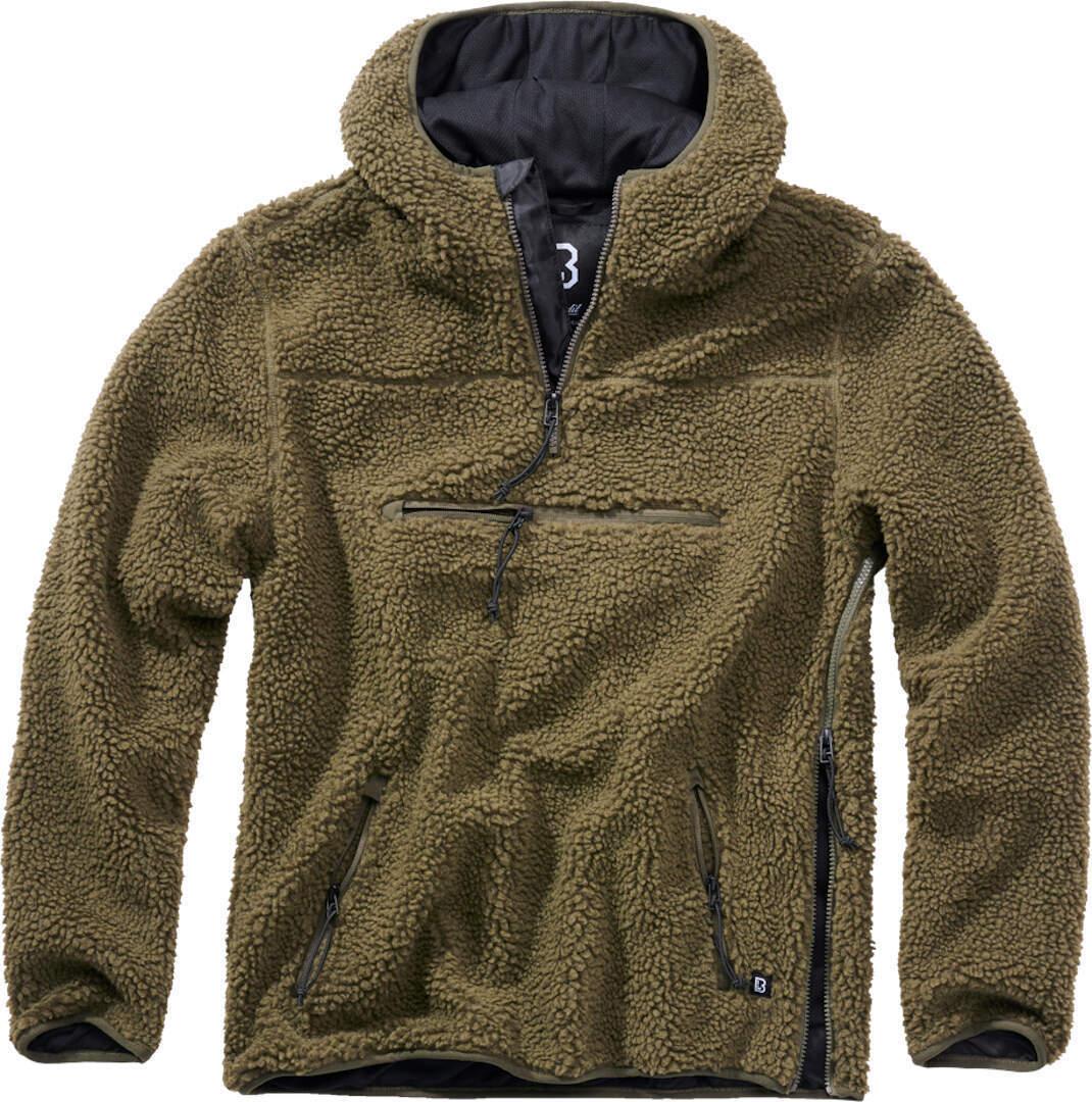 Brandit Teddyfleece Worker Pullover  - Vihreä - Size: 3XL