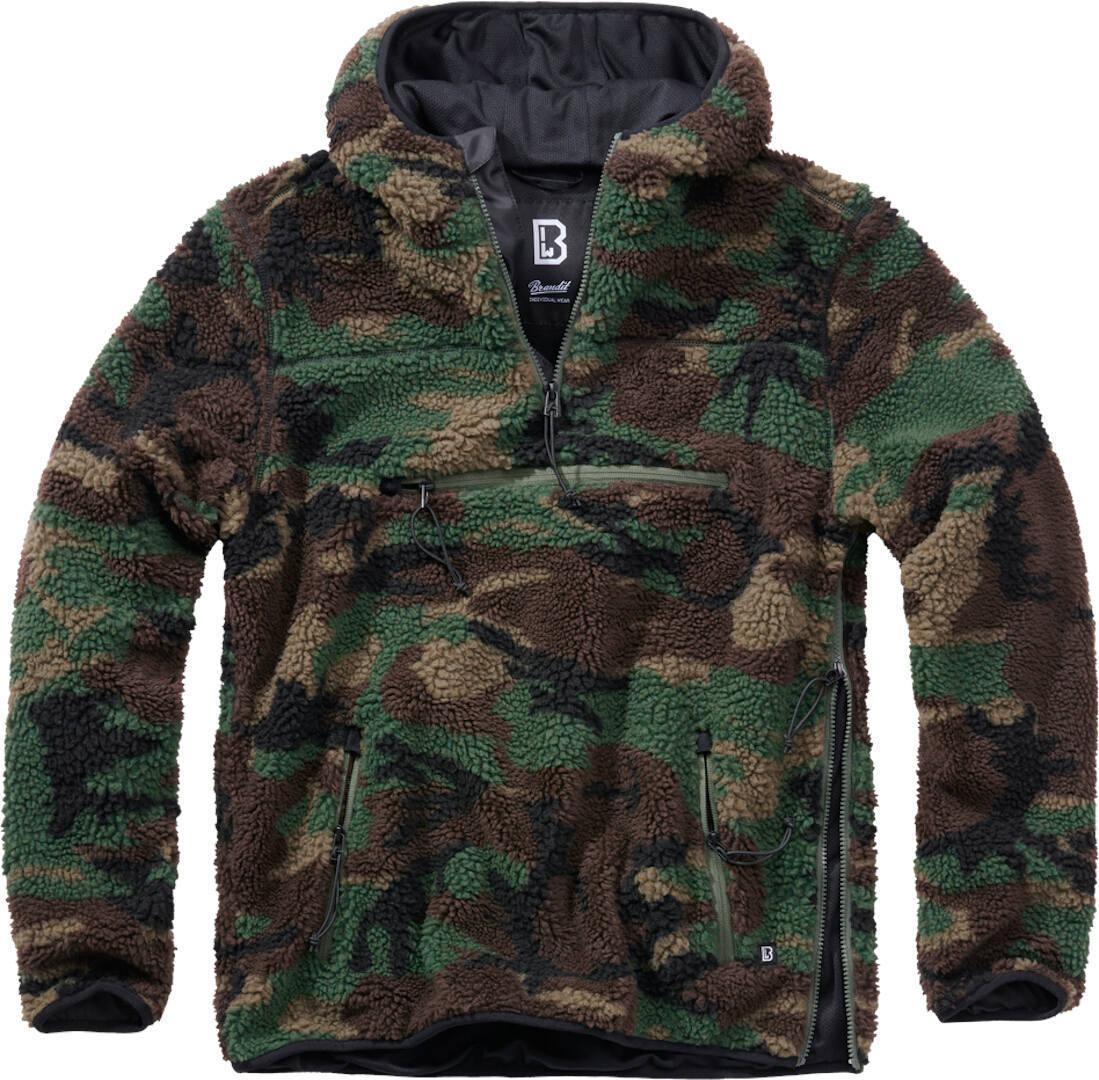 Brandit Teddyfleece Worker Pullover  - Vihreä - Size: M
