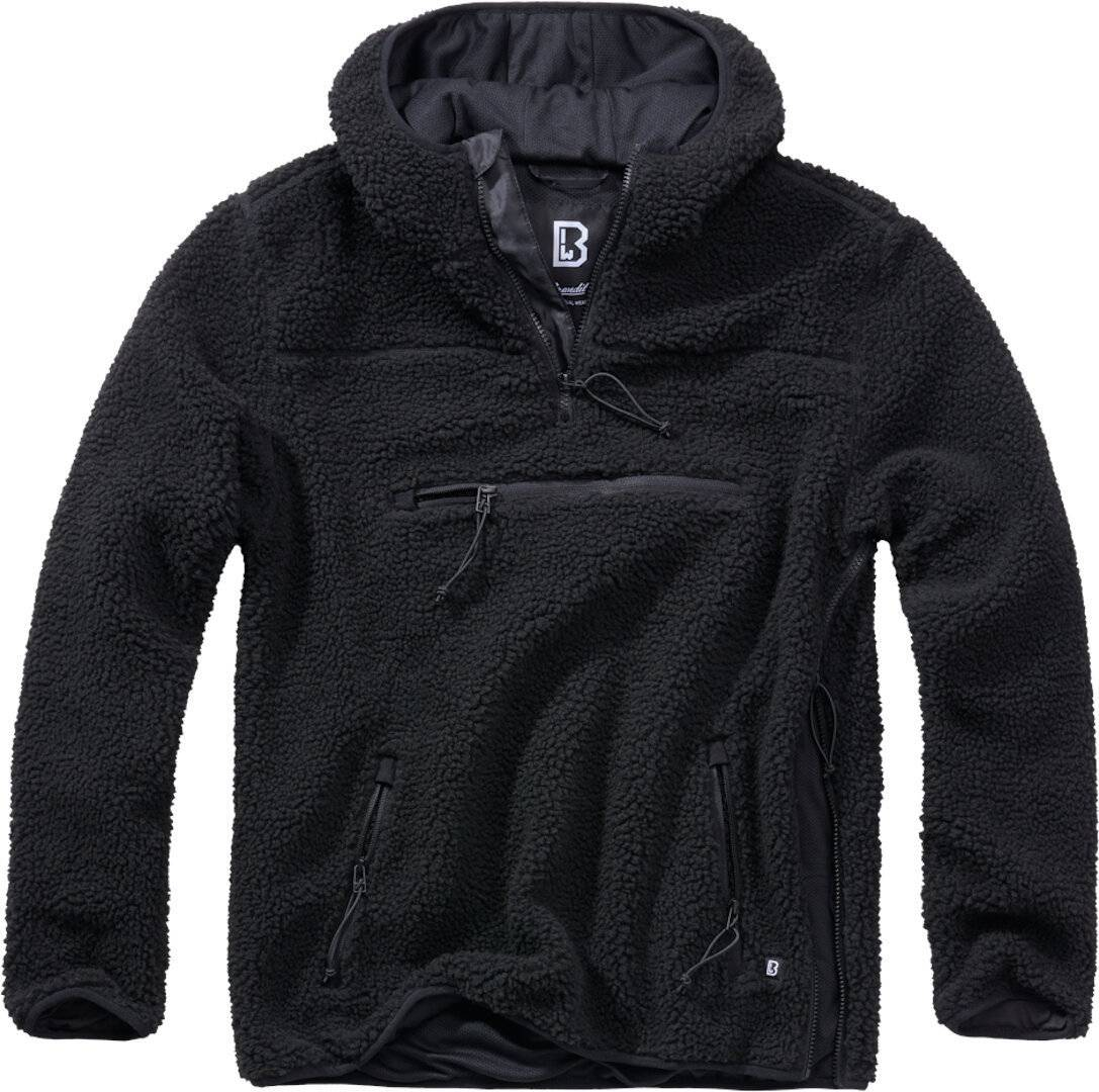 Brandit Teddyfleece Worker Pullover  - Musta - Size: L