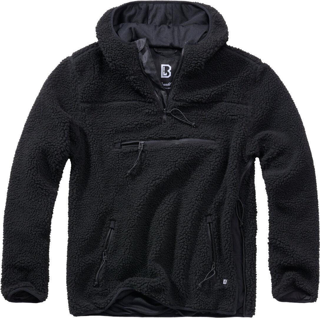 Brandit Teddyfleece Worker Pullover  - Musta - Size: 4XL