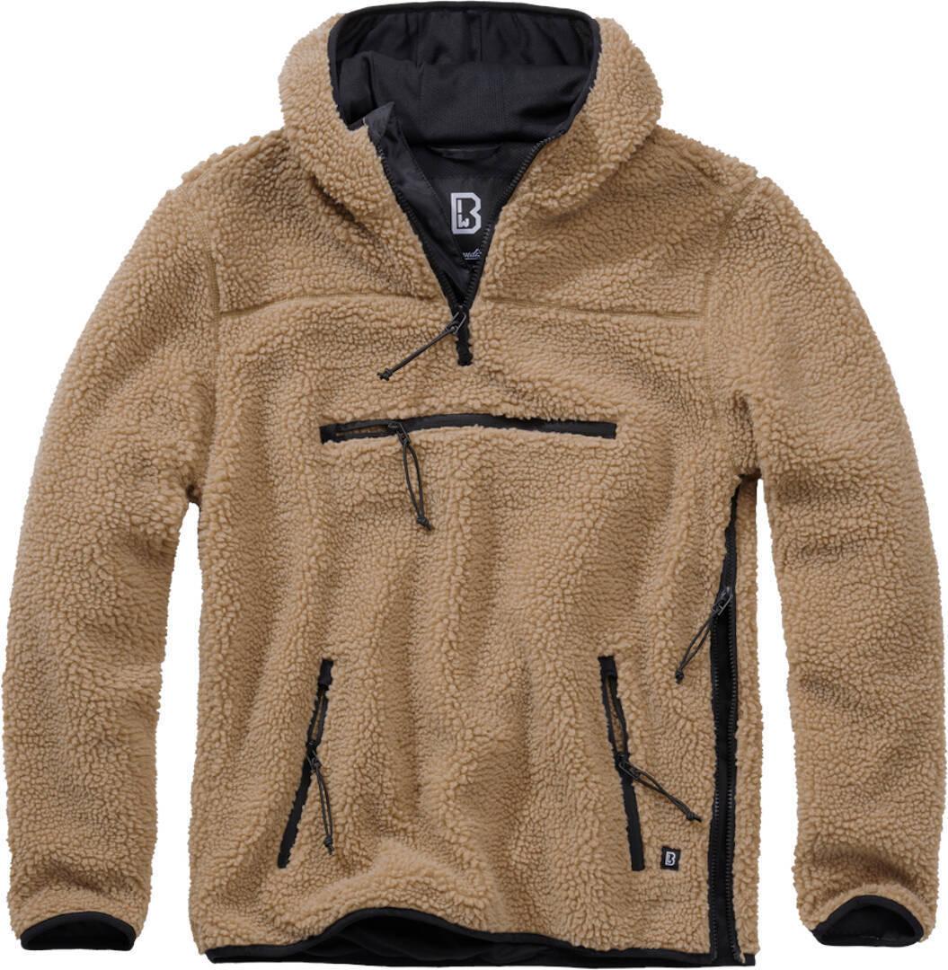 Brandit Teddyfleece Worker Pullover  - Ruskea - Size: 4XL