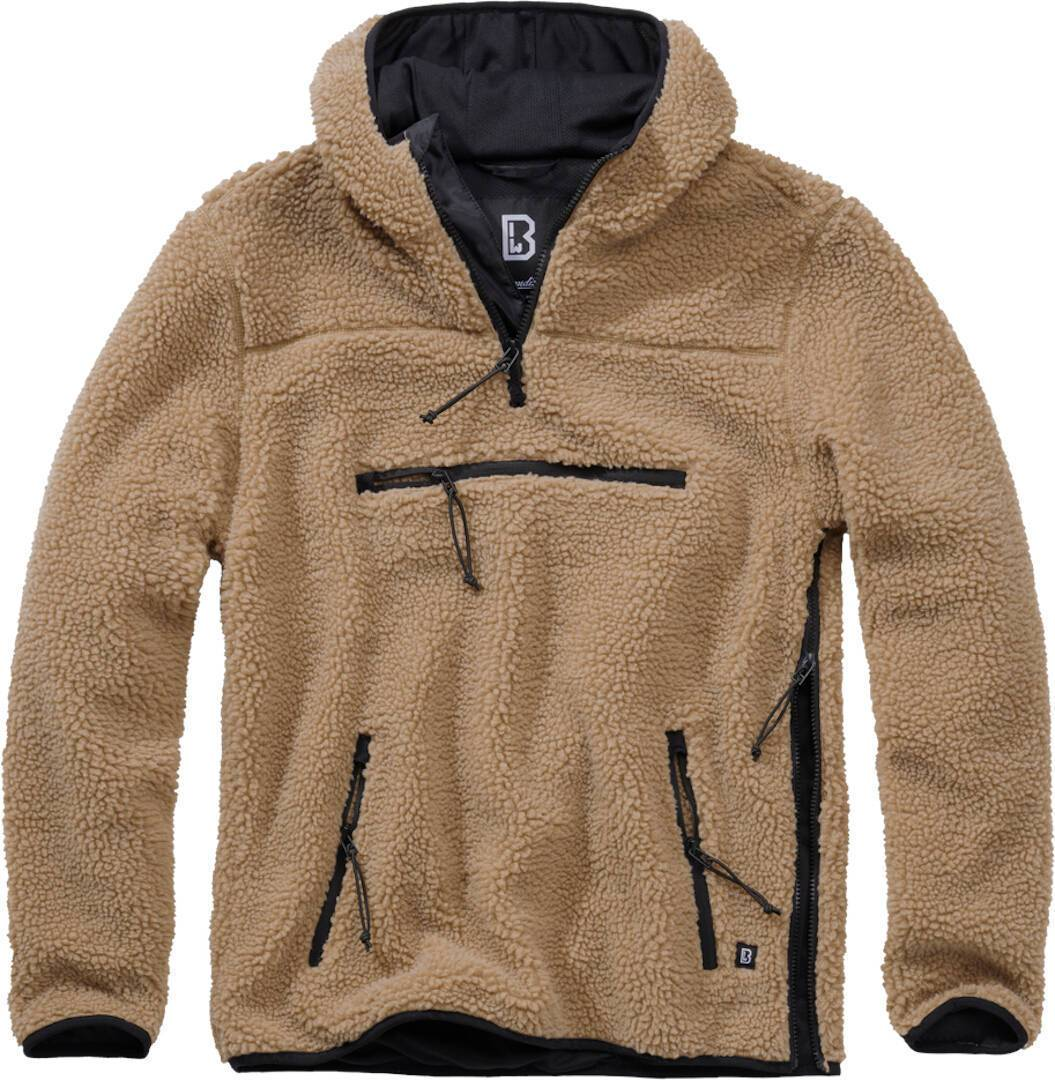 Brandit Teddyfleece Worker Pullover  - Ruskea - Size: 5XL